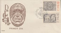Enveloppe  FDC   1er  Jour  CUBA    Paire   JOURNEE  Du  TIMBRE   1963 - FDC