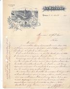 """45 Orléans - Lettre De 1916 """"La Rotonde"""" Restaurant Brasserie Cyrille Reynaud. Belle Illustration.Tb état. - 1900 – 1949"""
