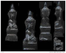 Ancien Bouddha En Bronze Du Cambodge  / Old Cambodian Bronze Dhyana Mudra Buddha - Art Asiatique