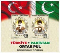 "SS Turkey 2017 Joint Issue ""Turkey & Pakistan 70th Anniversary Of Diplomatic Relations "" MNH - Pakistan"