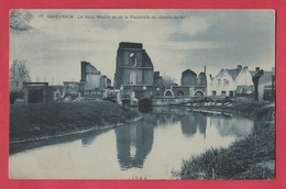Quiévrain - Le Vieux Moulin Vu De La Passerelle Du Chemin De Fer -SBP -1917 ( Voir Verso ) - Quiévrain