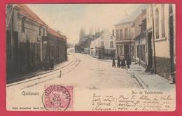 Quiévrain - Rue De Valenciennes- Jolie Carte Colorisée - 1905 ( Voir Verso ) - Quiévrain