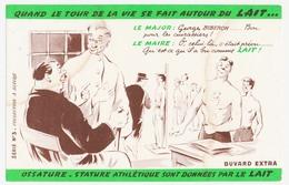 Buvard 20,8 X 13,9 Le LAIT Conseil De Révision Major Maire Conscrits Série N° 3 - Dairy