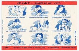 Buvard 20,8 X 13,9 Le LAIT Enfant, Travailleur, Mère, écolier, Intellectuel, Sportif, ... Série N° 10 - Dairy