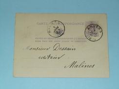 Carte Correspondance Anvers - Anno 1879 > Malines ( Zie/voir Foto Voor Details ) ! - Belgique