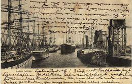 United Kingdom > Wales > Glamorgan. Barry Docks - Postcard Via Germany.Port.Ships - Glamorgan
