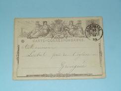 Carte Correspondance GRIVEGNEE - Anno 1873 ( Zie/voir Foto Voor Details ) ! - Belgique