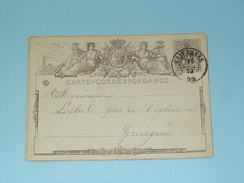 Carte Correspondance GRIVEGNEE - Anno 1873 ( Zie/voir Foto Voor Details ) ! - Privées & Locales