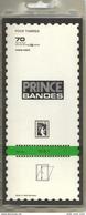10 Bandes Simple Soudure Prince Fond Transparent 210x70mm -  50% - Timbres