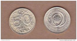 AC - TURKEY 50 000 LIRA 1996 FAO WORLD FOOD SUMMIT ROME COMMEMORATIVE BIMETALLIC COIN UNCIRCULATED - Turchia