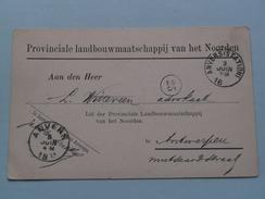 Prov. Landbouw V/h Noorden > Anvers - Anno 1893 > Witteveen Advokaat Antwerpen ( Zie/voir Foto Voor Details ) ! - Belgique