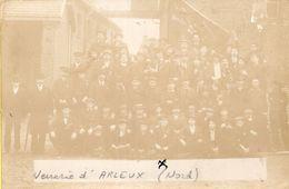 CARTE-PHOTO - 59 - ARLEUX  -  La Verrerie D'Arleux - Le Personnel - Arleux