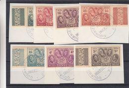 Congo Belge - COB 185 / 91 Oblitéré Sur Fragment - Obliteration Spéciale - Courrier De Haute Mer - 1923-44: Mint/hinged