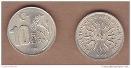 AC - TURKEY 10 000 LIRA 1994 WORLD SPORTS AND OLYMPIC YEAR COMMEMORATIVE COUN UNCIRCULATED - Turquie