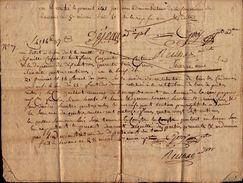 Etat Des Sommes Recouvrées Sur Séquestre - Lavaur 30 Nivose An 4 - Messire André De Lacoste Prêtre Réfractaire - Manuscripts