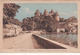 Cp , 35 , COMBOURG , Vue Sur Le Château, Le Moulin Et L'Étang - Combourg