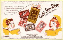Buvard Café San-Rivo. Un Timbre Poste Dans Chaque Paquet. Illustration Enfants Et Timbres Poste. - Coffee & Tea