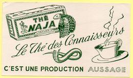Buvard Thé NAJA, Le Thé Des Connaisseurs, Production Aussage. - Coffee & Tea