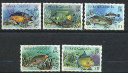 Turks & Caicos, Yvert 614/618, Scott 368&369,372/374 Inprint 1983, MNH - Turks And Caicos