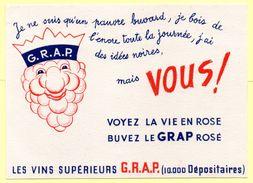 Buvard Vins GRAP - Buvards, Protège-cahiers Illustrés