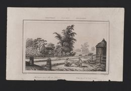 PHILIPPINES XIX CENTURY ANTIQUE ORIGINAL PRINT LOUÇON ISLAND 1850 Years - Postcards