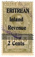 (I.B) BOIC (Eritrea) Revenue : Duty Stamp 2c On 3L OP - Erythrée
