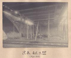 Pierrefitte Sur Seine : Quadruplement Ligne Paris, Pont Des Montains, Avenue Laennec. Mai 1906. Photo Originale - Trains