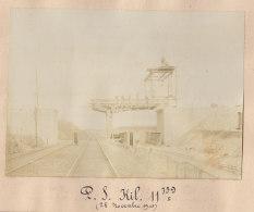 Garges Sarcelles : Quadruplement Ligne Paris, Pont à 300 M  En Amont De La Gare, PK 11.759 . Nov 1905. Photo Originale - Trains