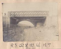 Garges Sarcelles : Quadruplement Ligne Paris, Démolition + Construction Pont En Gare. Mai 1906. Photo Originale - Trains