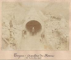 Sarcelles : Quadruplement Ligne Paris, Tuyau Aqueduc Du Pont Du Petit Rosne . Nov 1905. Photo Originale - Trains