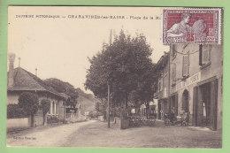 CHARAVINES Les Bains : Place De La Mairie, Hôtel De La Poste. 2 Scans. Edition Charton - Charavines