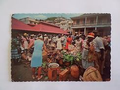 GRENADA WEST INDIES NATIVE MARKET 1960 YEARS POSTCARD Z1 - Postcards