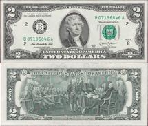 USA 2013 - 2 Dollars - Seria B - Pick NEW UNC - Federal Reserve Notes (1928-...)