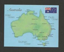 POSTCARD MAPS MAP AUSTRALIA Z1 - Unclassified