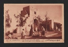 Postcard 1920s AFRICA AFRIQUE MOROCCO MAROC CASABLANCA INDIGENOUS TOWN AFRIKA Z1 - Postcards