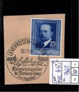 ! Briefmarke Deutsches Reich Mi.Nr. 761 Gestempelt Mit Ersttagsstempel Leverkusen IG Werk 26.11.1940, Emil Von Behring - Used Stamps