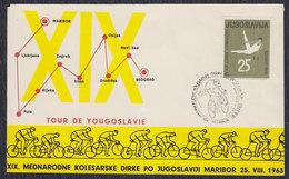 Yugoslavia Slovenia 1963 Cycling - Tour De Yugoslavia, Cover - 1945-1992 Socialistische Federale Republiek Joegoslavië
