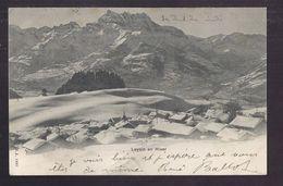 CPA SUISSE - LEYSIN - Leysin En Hiver - Très Jiolie Vue Générale Du Village Sous La Neige Jolie Oblitération 1901 Verso - VD Vaud