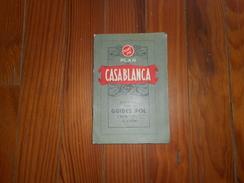 PLAN DE CASABLANCA GUIDES POL 1er EDITION - Cartes