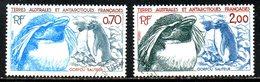 TAAF. N°105-6 Oblitérés De 1984. Gorfou Sauteur. - Antarctic Wildlife