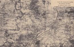 METZ - MOSELLE - (57) -  PEU COURANTE CPA CARTE DES CHAMPS DE BATAILLE D'AOÛT 1870. - Other Wars