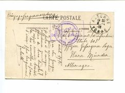 Cp - Auxerre Carte En Franchise Pour Un Prisonnier De Guerre En Allemagne + Cachet De Censure - 8.04.1917. - Storia Postale