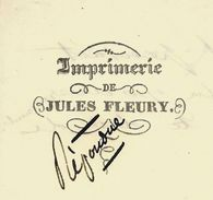 1852 LETTRE DE COMMERCE Jules Fleury  IMPRIMEUR à Mamers (Sarthe) Pour Mr Langlais Avocat à Paris V.SCANS+HIST - Manuscrits