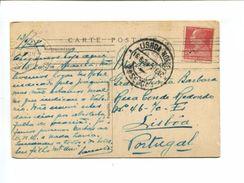 Cp  Affranchie 90c Marcelin Berthelot à Destination Du Portugal - Marcophilie (Lettres)
