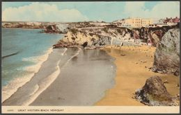 Great Western Beach, Newquay, Cornwall, 1962 - Harvey Barton Postcard - Newquay