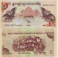 BHUTAN  5 Ngultrum  P28a 2006    UNC - Bhutan