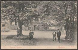 Church Entrance, Redruth, Cornwall, 1914 - Stengel Postcard - England