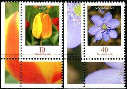 BRD - Michel 2484 / 2485 ECKE LIU - ** Postfrisch (A) - 10-40C  Blumen, Tulpe, Leberblümchen - [7] República Federal
