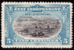 Congo 0014* 5c  Bleu Paysage Mols  -H- - Congo Belge