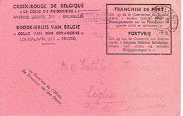 """CP DE 1943 CROIX-ROUGE DE BELGIQUE """" LE COLIS DU PRISONNIER"""" De BRUXELLES Vers LEGLISE (Pce De Luxembourg) - WW II"""